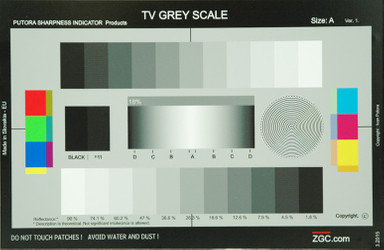 Putora Grey Scale TV Testtafel