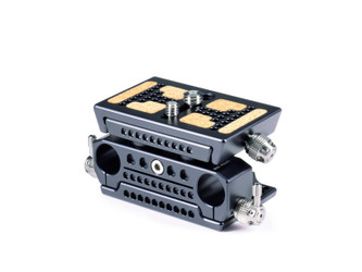 BasePlate MicroMega Kit 25 / Base Plate / Top Slider / Top Plate / Rod Mount 15mm / MicroMega Riser 25 (x2)