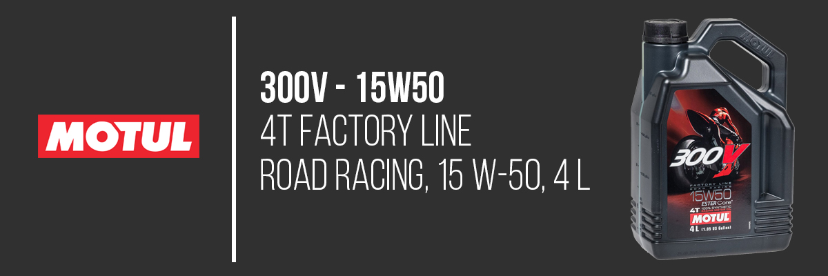 MOTUL Motoröl 300V FL ROAD RACING 15W50 104129 4 Liter
