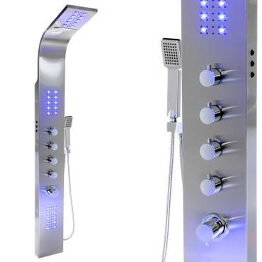 Edelstahl Duschpaneel mit LED Beleuchtung und Multifunktionsregler ( 9997+ ) – Bild 1