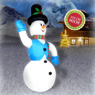Aufblasbarer Schneemann 350 cm Weihnachtsdekoration Aussen xxl – Bild 3