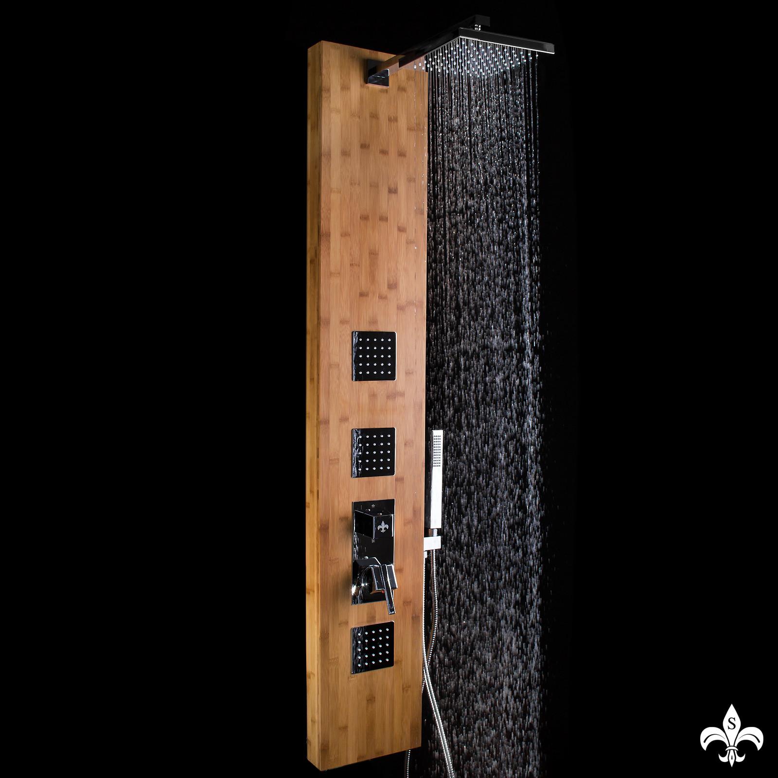 duschpaneel bambus mit vielen funktionen steinkirch german quality sanit r duschpaneele. Black Bedroom Furniture Sets. Home Design Ideas
