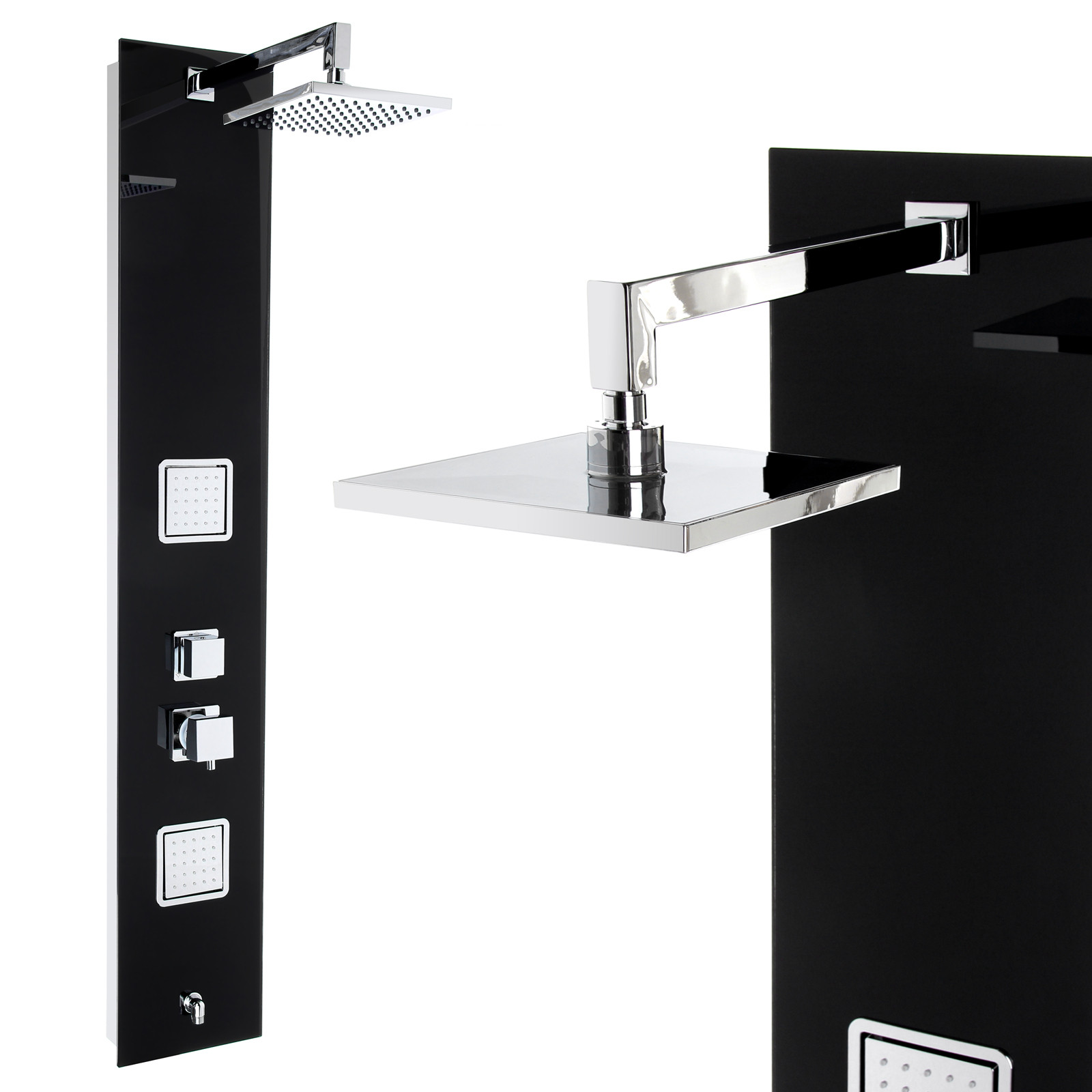 duschpaneel glas mit vielen funktionen steinkirch german quality sanit r duschpaneele. Black Bedroom Furniture Sets. Home Design Ideas