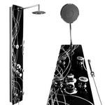 Duschpaneel Glas Design mit vielen Funktionen (8105) 001