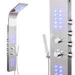 Duschpaneel aus Edelstahl mit LED-Beleuchtung (9304-LED) 001