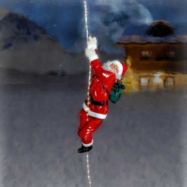Weihnachtsmann am LED Lichtseil – Bild 2
