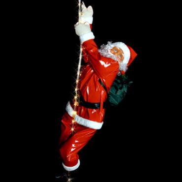 Weihnachtsmann am LED Lichtseil