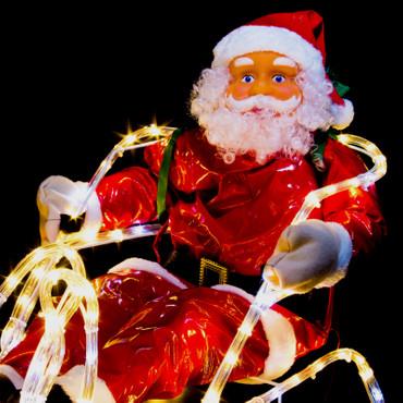 LED Rentier mit Schlitten und Weihnachtsmann – Bild 5