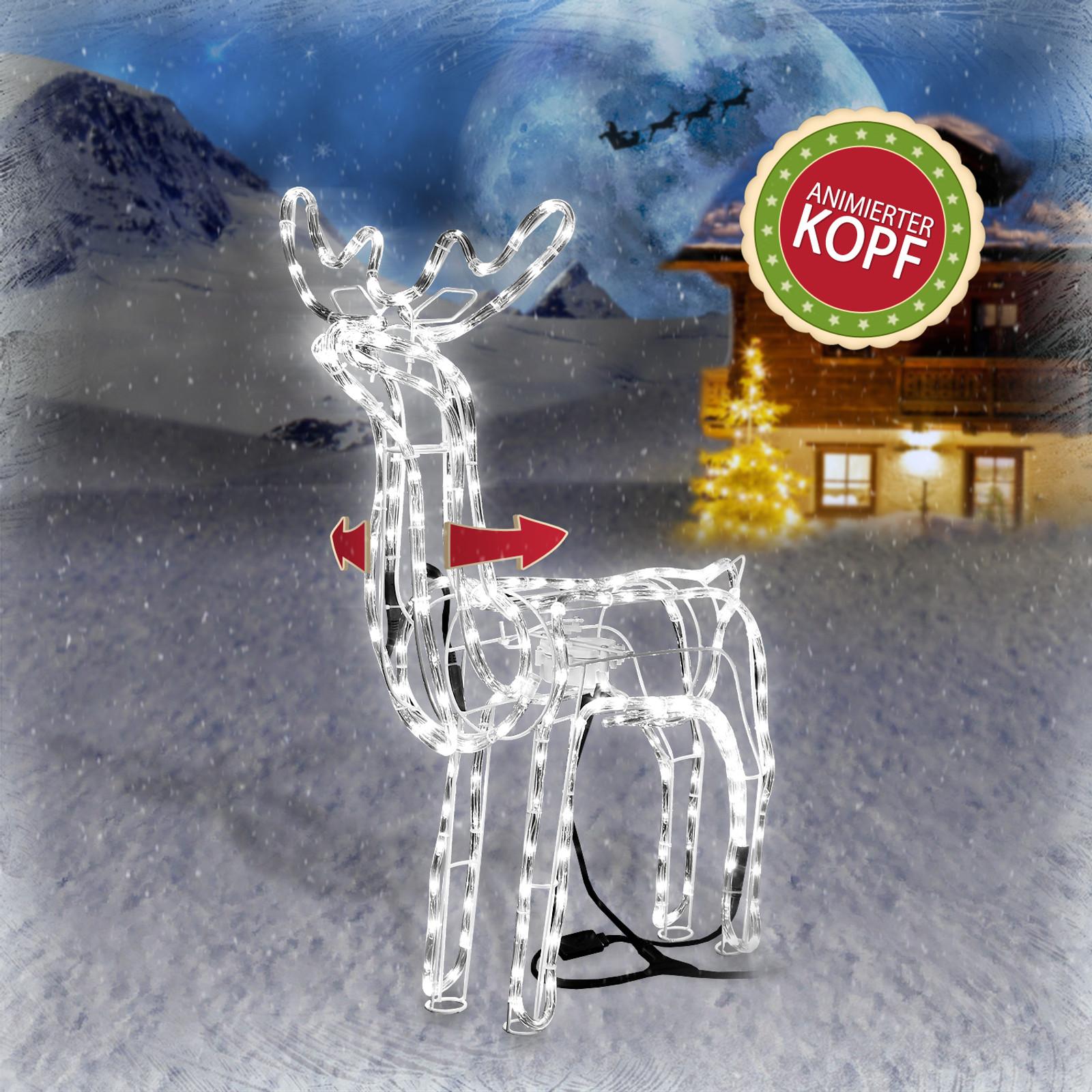 Weihnachtsbeleuchtung Rentier Beweglich.Led Rentier Mit Motorgesteuertem Kopf
