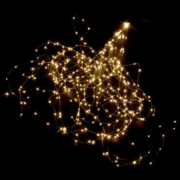 LED Lichterbündel 18 Stränge mit 364 warm weissen Micro LED`s 200cm – Bild 1
