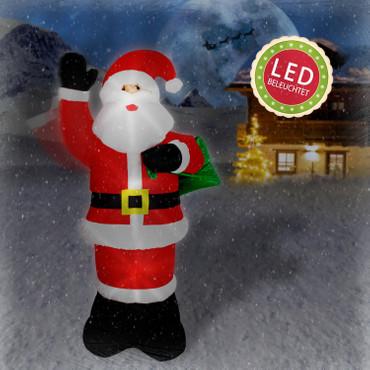 Singender Weihnachtsmann mit winkendem Arm (240 cm hoch) – Bild 4