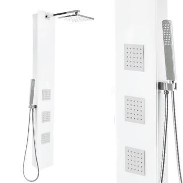 Duschpaneel mit weißem Glas und vielen Funktionen (SK-427) – Bild 1