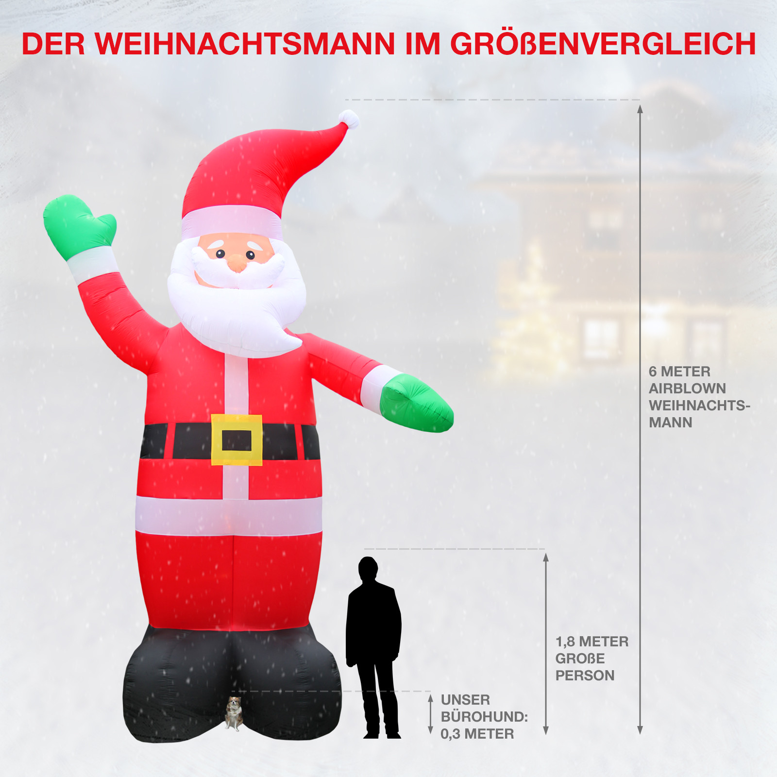 weihnachtsdeko xxl 6 meter inflatable weihnachtsmann mit. Black Bedroom Furniture Sets. Home Design Ideas