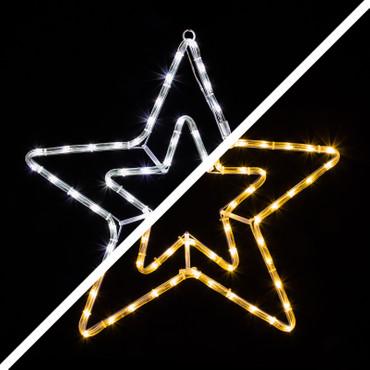 LED Stern mit 72 warmweißen und kaltweißen LEDs – Bild 1