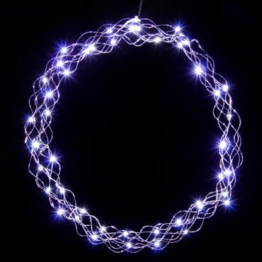 Lichterkranz in kaltweiß oder warmweiß (50 cm) – Bild 2