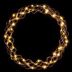 Lichterkranz in kaltweiß oder warmweiß (50 cm) 001