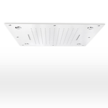 Kombi LED Regenduschkopf mit Doppelschwall 50x50cm – Bild 1