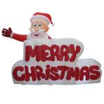 Weihnachtsmann mit Merry Christmas Schriftzug Inflatable Figur (120 cm hoch) 001