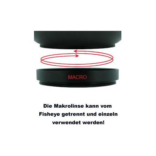 58mm 0.25x Fisheye-Konverter Ultra-Weitwinkel Fisheye-Vorsatz-Linse by SIOCORE Bild 5