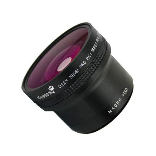 58mm 0.25x Fisheye-Konverter Ultra-Weitwinkel Fisheye-Vorsatz-Linse by SIOCORE Bild 1