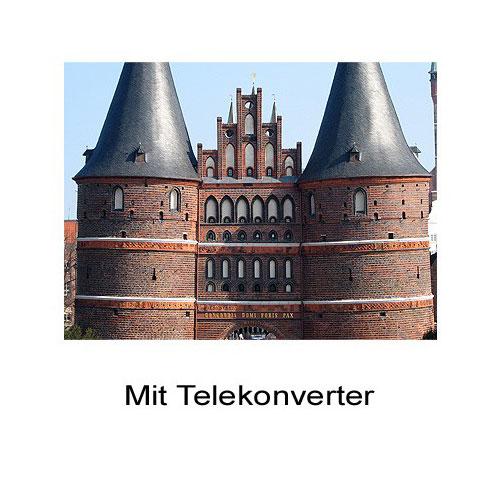 2.0x Telekonverter Tele-Vorsatz-Linse Canon Powershot A60 A70 A75 A85 by SIOCORE Bild 3