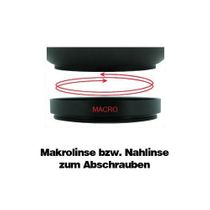 0.45 Weitwinkelkonverter Vorsatzkonverter Nahlinse Fuji Finepix S5600 by SIOCORE Bild 4