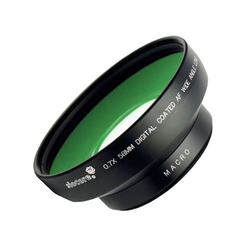SIOCORE 0.7x wide angle Converter mount Lens + close up Lens for CANON EOS lens Bild 1