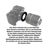 52mm Macro Retro Adapter for Nikon F bajonet camera Bild 2