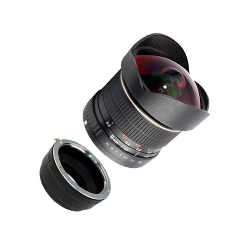SIOCORE 8mm f3.5 Fisheye-Lens / Ultra Wide Angle-Lens for SONY E (NEX) bajonet Bild 2