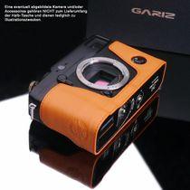 GARIZ real leather designer half case for FUJI FinePix X-Pro1 ( XS-CHXP1OR ) Bild 3