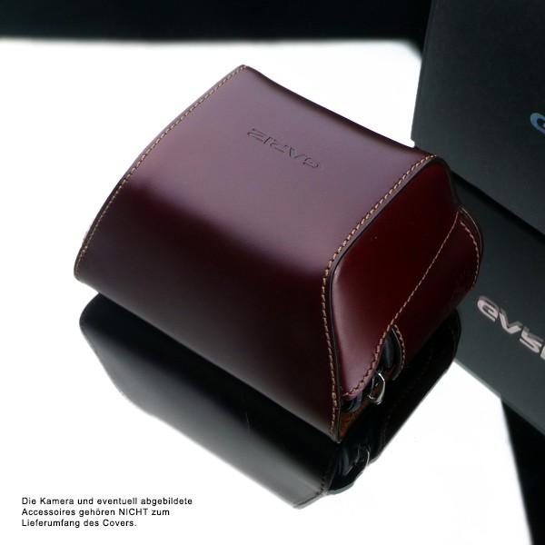 GARIZ Echtleder Schutzumhüllung für PANASONIC DMC-GX1 Halb-Tasche ( XA-CCGX1BR ) Bild 2