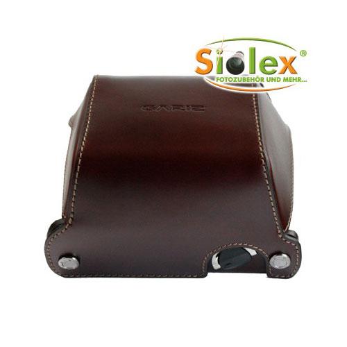 GARIZ Echtleder Schutzumhüllung für PANASONIC DMC-GX1 Halb-Tasche ( XA-CCGX1BR )