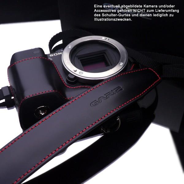 GARIZ Leder-Nylon Designer Kamera-Gurt / Schultergurt / Trageriemen / XA-CHLSS2 Bild 3