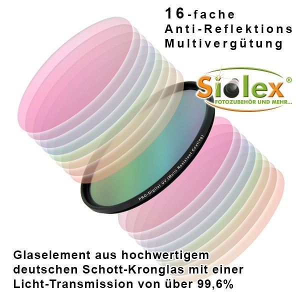 55mm Digital HD-MRC (Multi-Resistance-Coating) UV Filter (Ultra-Slim-Line) Bild 2