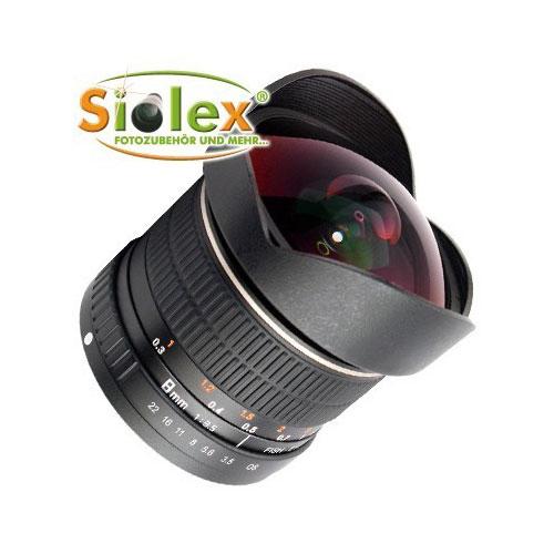 SIOCORE 8mm f3.5 Fisheye-Lens / Ultra Wide Angle-Lens for CANON EOS M bajonet Bild 1