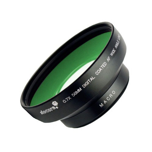 SIOCORE 0.7x wide angle Converter Lens + close-up Lens NIKON Coolpix P7700