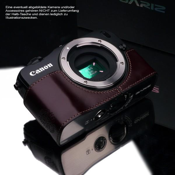 GARIZ Kameratasche Ledertasche Tasche für CANON EOS M Kamera ( XS-CHMBR ) Bild 2