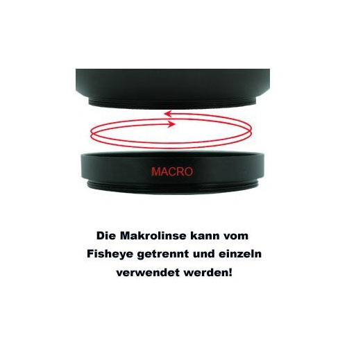 52mm 0.25x Fisheye-Konverter Fisheye-Vorsatz-Linse f. Systemkameras by SIOCORE Bild 5