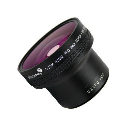 49mm 0.25x Fisheye-Konverter Fisheye-Vorsatz-Linse f. Systemkameras by SIOCORE