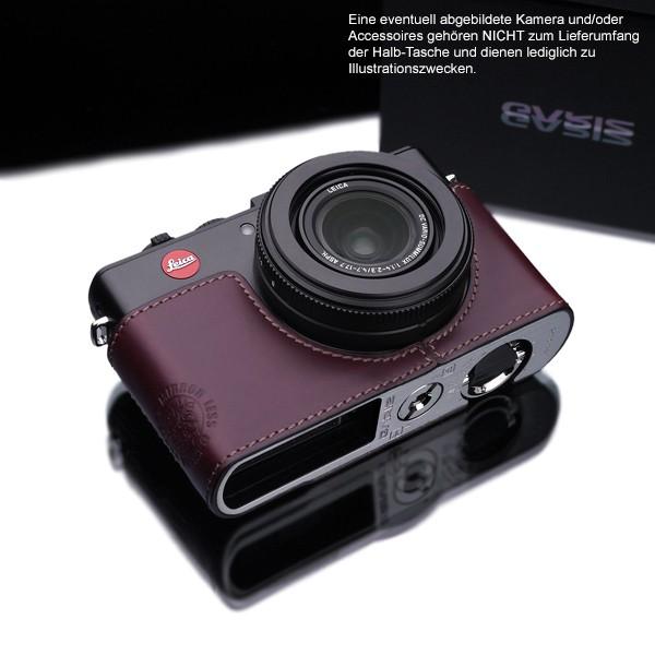 GARIZ real leather designer half case for LEICA D-Lux 6 ( XS-CHDLUX6BR ) Bild 2