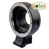 SIOCORE Objektiv-Adapter mit Datenübertragung Canon EOS EF an Sony E Bajonett Bild 1