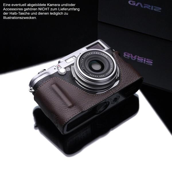 GARIZ BLACK-LABEL Leder Kameratasche FUJI FinePix X100T X100s X100 / BL-X100BR Bild 2