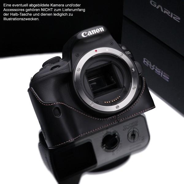Kameratasche für Canon EOS 100D aus Leder von Gariz | XS-CH100DBK Bild 5