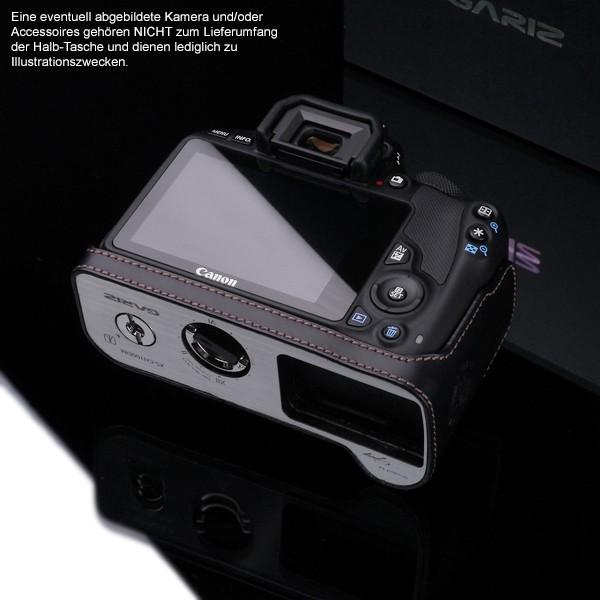 Kameratasche für Canon EOS 100D aus Leder von Gariz | XS-CH100DBK Bild 6