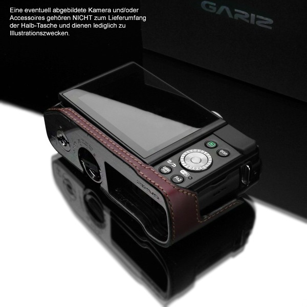 GARIZ real leather designer half case for PANASONIC Lumix DMC-GF6 ( XS-CHGF6BR ) Bild 6