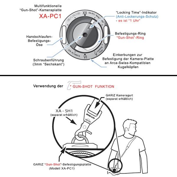 GARIZ Leder Handschlaufe / Trageriemen & Schnellwechelplatte im Set / XS-HG2BK1 Bild 9