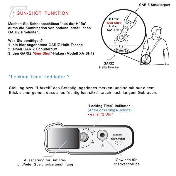 GARIZ Kameratasche Ledertasche Tasche für FUJI FinePix X-M1 X-A1 X-A2 / HG-XM1BR Bild 7