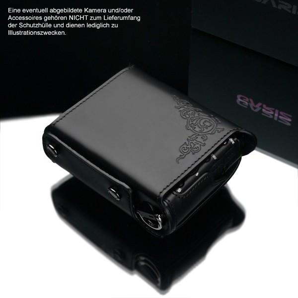 GARIZ Leder Schutzumhüllung f. Sony DSC-RX100 II & M3 Halbtasche XA-CCRX100IIBK2 Bild 3