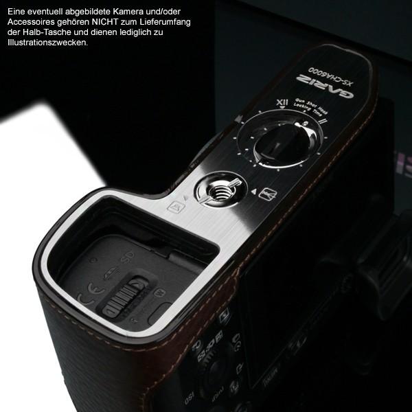 GARIZ Kameratasche Ledertasche Tasche für Sony Alpha A6000 ( XS-CHA6000BR ) Bild 4