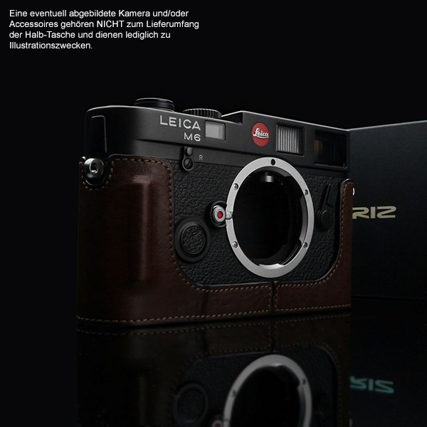 GARIZ BLACK-LABEL real leather half case for Leica M6 / M7 ( BL-LCFMBR ) Bild 2